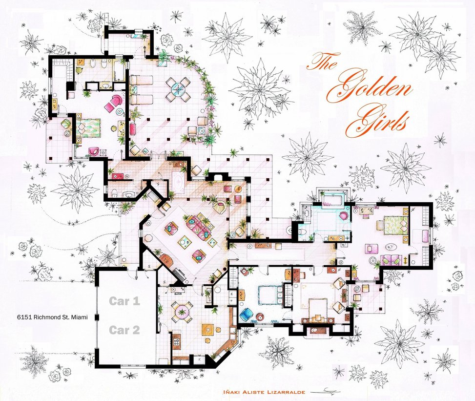 Floor plans from your favorite TV shows. | MyPhillyKind
